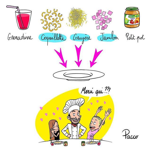 Un menu spectaculaire qui va ravir vos enfant. Le dessert va vous donner la chaaaaire de poule !!!