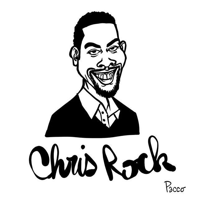 #chrisrock #fanart #pacco #blackandwhite