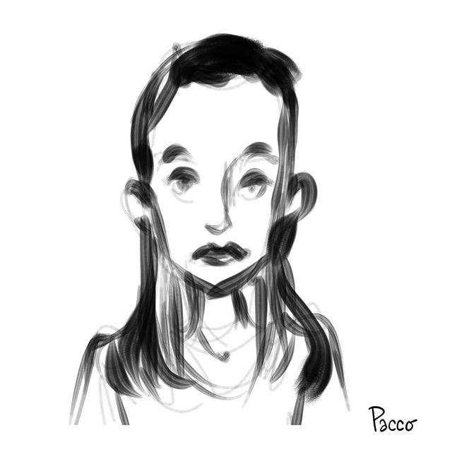 Face #blackandwhite #illustration