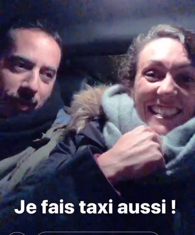 Vous ne devinerez qui nous a pris dans son taxi pour aller voir le spectacle de Manu Payet !!!!